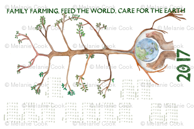 2017 Feed the World tea towel