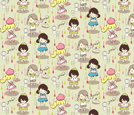 Let Them Eat pie fabric by theboutiquestudio on Spoonflower - custom fabric