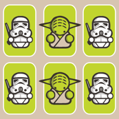 stormtrooper & yoda