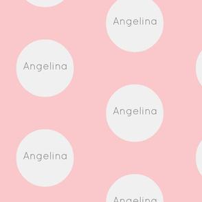 Gum Drops Lg-Blush Wht / Gray Personalized