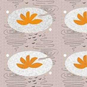 orange lily pad