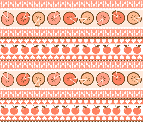 I love apple pie fabric by heleenvanbuul on Spoonflower - custom fabric