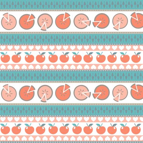 I love apple pie fabric by heleenvanbuul on Spoonflower - custom fabric