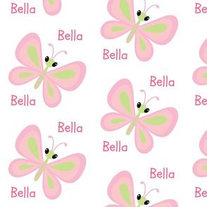 Butterflies Lg - Pink/Petal Personalized