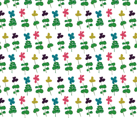 Cerys Flower Power fabric by upcyclepatch on Spoonflower - custom fabric