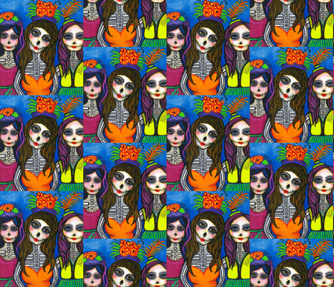 Comadres fabric by mariasanchez on Spoonflower - custom fabric