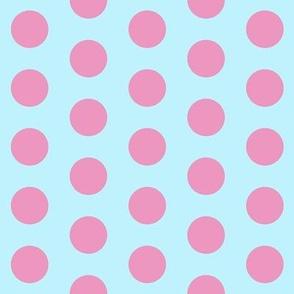 polka dot (blue/pink)