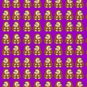 Small Hedgehogs on Purple