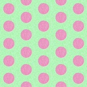 polka dot (mint/pink)