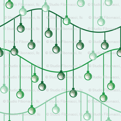 Holiday Ornaments (green)
