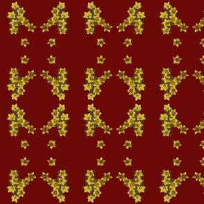 Flower medallion-red