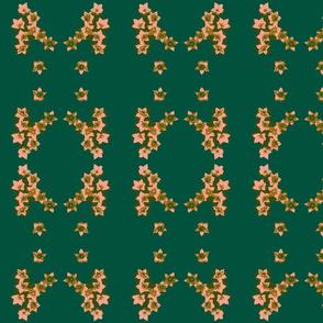 Flower medallion-green