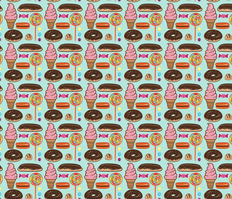 Sweet Treats fabric by popstationery&gifts on Spoonflower - custom fabric