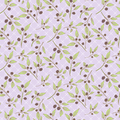 Brazenberry Clusters on Lilac Lattice - Antique