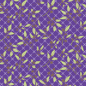 Brazenberry Clusters on Purple Lattice - Antique