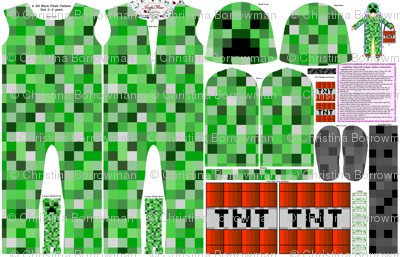 8-bit Block Pixels Costume for Knit Fabric, Size 2-3 Years