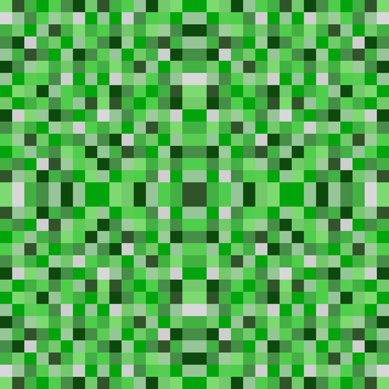 Minecraft Pixel Pattern Fabric