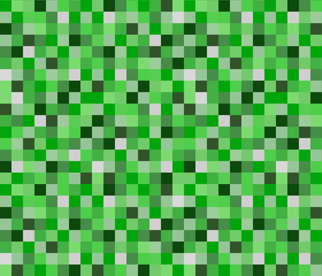 Minecraft Inspired Creeper Pixels - Green fabric by joyfulrose on Spoonflower - custom fabric