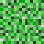 Minecraft Inspired Creeper Pixels - Green