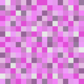 Minecraft Inspired Creeper Pixels - Pinks