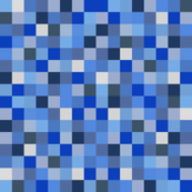 Minecraft Inspired Creeper Pixels - Blue