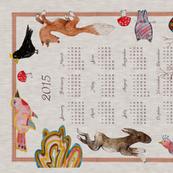 Naive Woodland (AUTUMN) 2015 Calendar