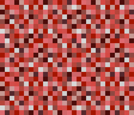 Minecraft Inspired Creeper Pixels - Red fabric by joyfulrose on Spoonflower - custom fabric