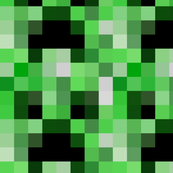 "Minecraft Inspired Creeper Face Fabric - Larger 5"" Faces"
