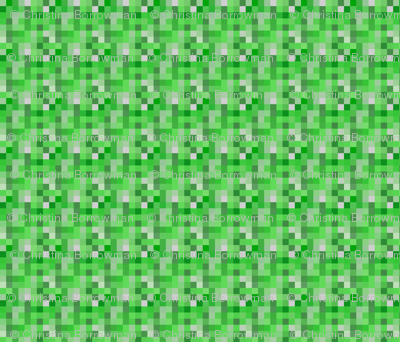 Minecraft Inspired Creeper Non-Face Fabric - Large