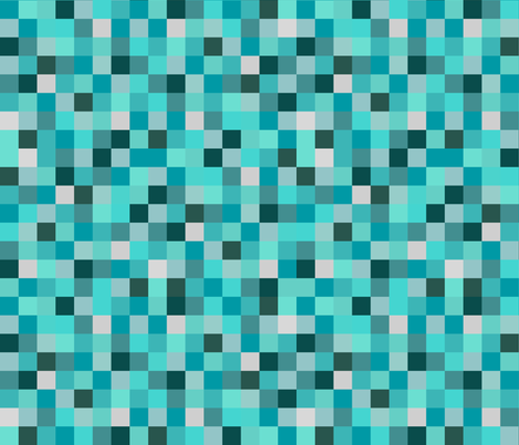 Minecraft Inspired Creeper Pixels - Teal fabric by joyfulrose on Spoonflower - custom fabric