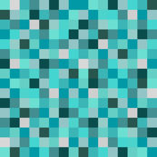 Minecraft Inspired Creeper Pixels - Teal