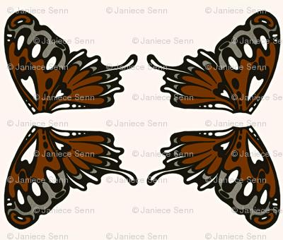 light chocolate wing applique