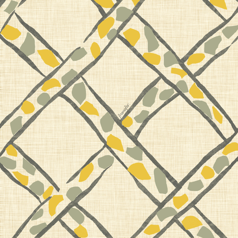 Basket Giraffe - blonde - fabric by frumafar on Spoonflower - custom fabric