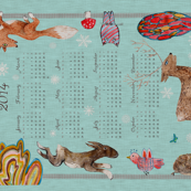 Naive Woodland 2014 Calendar (with Snow)