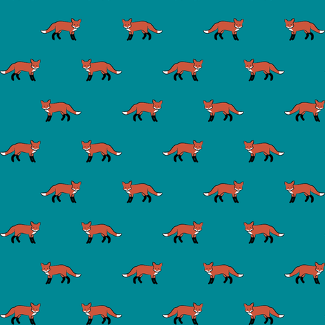 Foxen Teal fabric by mrshervi on Spoonflower - custom fabric