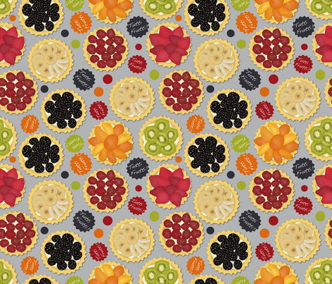 Tutti Frutti (Scattered) fabric by vannina on Spoonflower - custom fabric