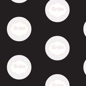 Gum Drops Lg-Black Vintage Blush Personalized