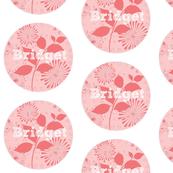 Island Quilt LG Pinwheel Strawberry Shake Personalized