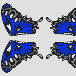 Light blue wing appliques
