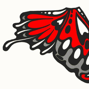 light red wings,panel/applique