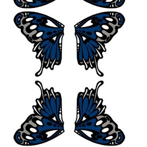 small butterfly appliqués neutral blue