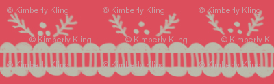 Holiday Pine Lace - Light Red and Gray