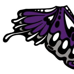 Large nouveau purple wing appliques