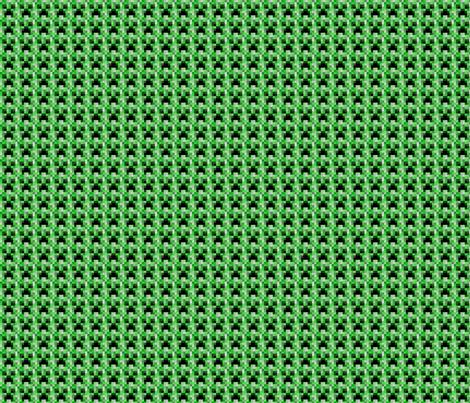 "Minecraft Inspired Creeper Face Fabric - Tiny 1.5"" Faces  fabric by joyfulrose on Spoonflower - custom fabric"