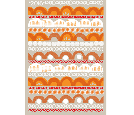 2016 citrus slice tea towel calendar-27 ""