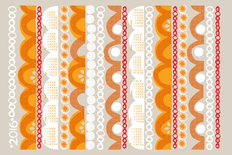 2016 citrus slice tea towel calendar-27 inc  fabric by ottomanbrim on Spoonflower - custom fabric