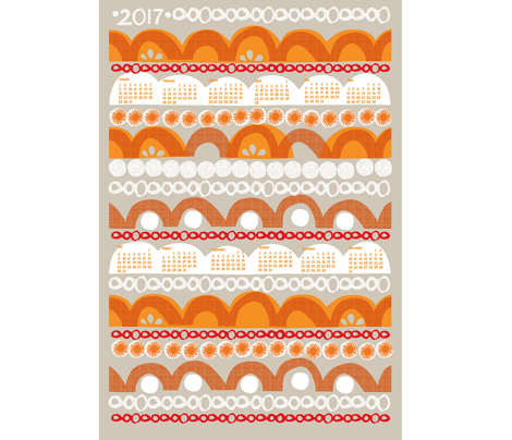 2017 citrus slice tea towel calendar-27 ""