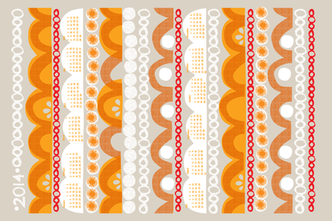 2014_citrus_slice_calendar-27inches_wide fabric by ottomanbrim on Spoonflower - custom fabric