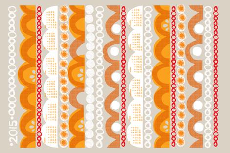 2015_citrus_slice_tea towel calendar-27 inch fabric by ottomanbrim on Spoonflower - custom fabric