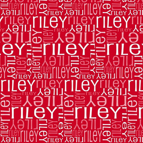 Personalised Name Fabric - Red